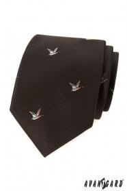 Braune Krawatte Entenmuster