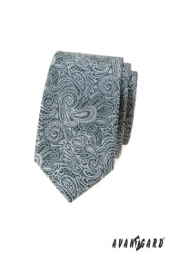 Schmale Krawatte mit Paisley-Muster