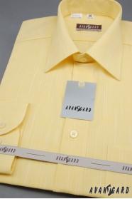 Herren Hemd  langarm  Gelb