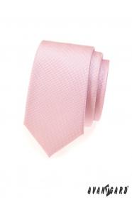 Rosa fein strukturierte slim Krawatte