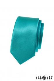 Schmale Türkis Krawatte