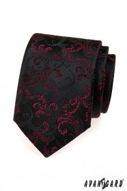 Krawatte schwarze und violette Motive