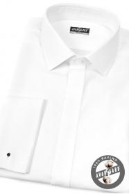 Herrenhemd weiß 100% Baumwolle für MK