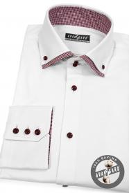 Weisses Hemd rot kombiniert