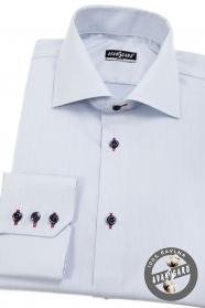 Hellblaues Herren Slim Hemd mit bunten Accessoires