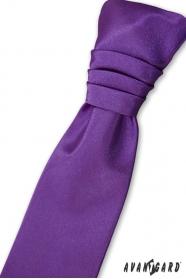 Französisch Jungen lila Krawatte + Einstecktuch