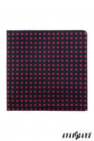 Blaues Einstecktuch mit roten Punkten