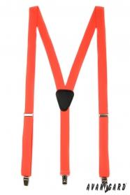 Orange Y-Hosenträger 3-Clip-Halterung