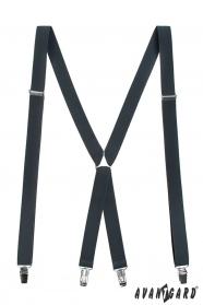 Hosenträger X-Form 4-Clip-Halterung, Graphit