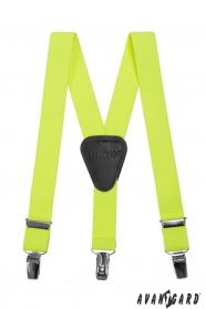 Jungen Hosenträger Y-Form 3-Clip-Halterung, gelber NEON