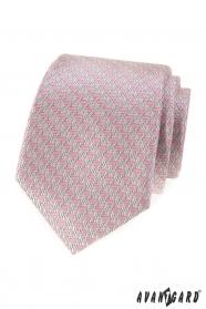 Herren Krawatte mit rosa Muster