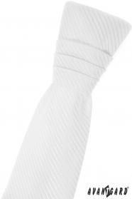 Weiße junge französische Krawatte mit Diagonalstreifen