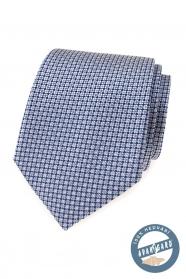 Seidenkrawatte mit blauem Muster