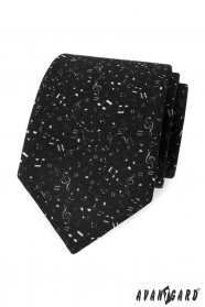 Schwarze Herren Krawatte - Musiknoten