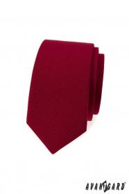 Burgunder schmale Krawatte