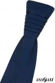 Dunkelblaue französische Krawatte