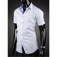 Herren Hemd kurzarm Desire  Blauweiß