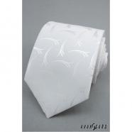 Krawatte Weiß mit Muster