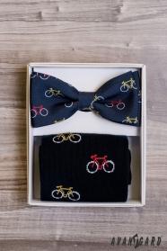 Fliege im Set mit Socken, Fahrradmuster