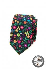 Mehrfarbige schmale Krawatte