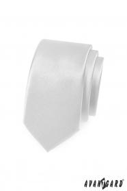 Glatte weiße Slim-Krawatte