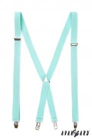 Minzfarbene Hosenträger X-Form 4-Clip-Halterung