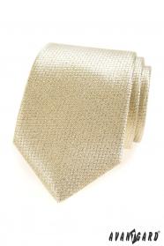 Strukturierte Krawatte in Goldfarbe
