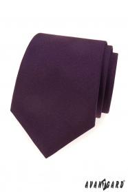 Dunkelviolette, matte Krawatte