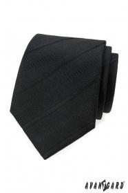 Schwarze Krawatte mit diagonalen Streifen