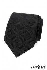 Schwarze Krawatte mit quadratischem Muster
