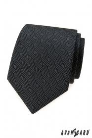Graue Krawatte mit ineinander verschlungenen Streifen