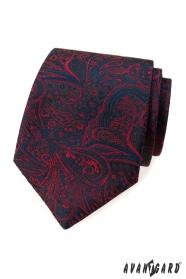 Krawatte mit blau-rotem Muster