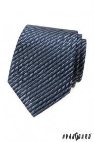 Blaue Krawatte mit Streifenmuster