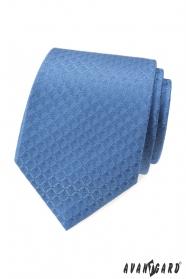 Blaue Krawatte mit Rautenmuster