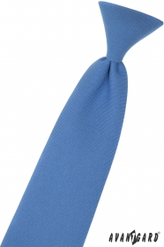 Blaue Jungenkrawatte 44 cm
