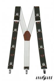 Hosenträger mit Jagdmotiv 3,5 cm