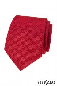 Rote Krawatte mit gestricheltem Muster