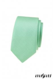 Mintgrüne schmale Krawatte