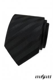 Schwarze Krawatte mit breiten Streifen