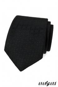 Schwarze Krawatte mit Muster