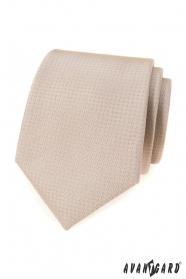 Beige Krawatte mit Punkten