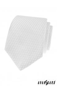 Weiße Krawatte mit gestreifter Struktur
