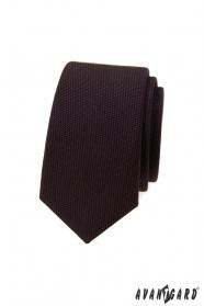 Dunkelbraune Luxus Schmale Krawatte