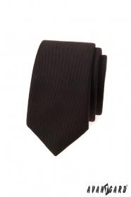 Dunkelbraune schmale Krawatte