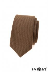 Zimtbraune schmale Krawatte
