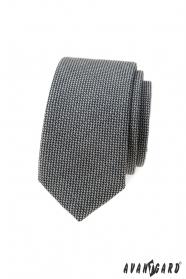 Graue 5 cm schmale Krawatte