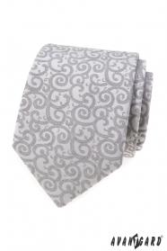 Hellgraue Krawatte mit Muster