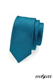 Schmale gesteppte Krawatte in Petroleumfarbe