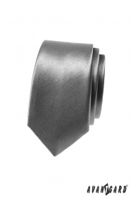 Krawatte für Männer SLIM in Hellgrau