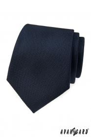 Dunkelblaue strukturierte Krawatte